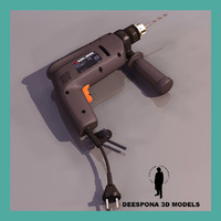 3d model of black decker power tool