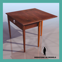 3d max art deco desk table