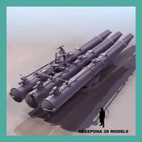torpedo launcher 3d max