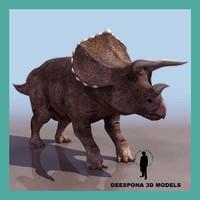 triceratops dinosaur 3d max