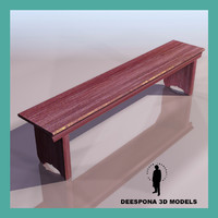 3d utility bench 1900 model