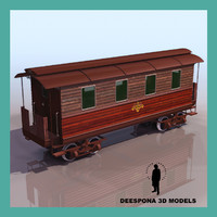 3d model general wagon passenger