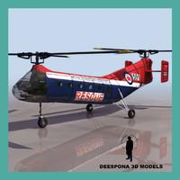 piasecki h-21 ch-21b workhorse 3d model