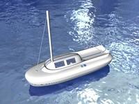 3d sailing yacht boat