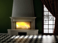 fireplace 3d obj