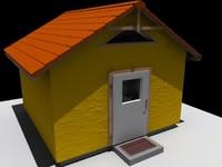 3dsmax garden house