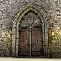Medieval doors 3d model