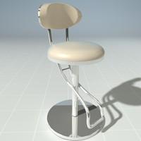 3d model of modern stool