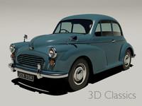 morris minor car 3d model