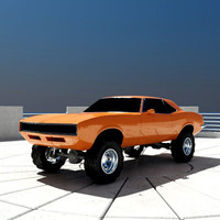 offroad muscle car 3d model