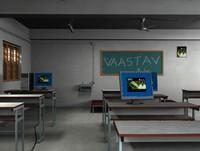class room hp desktop 3d max