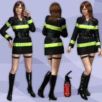 Fire Fighter1 Uniform for for V4(Poser)