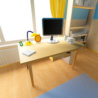 3d max children room