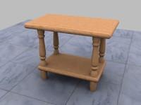 3d model desk small