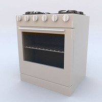 Four-burner stove with oven