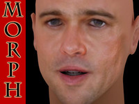 brad pitt face 3d model