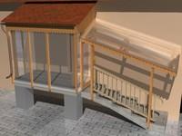 platform patio 3d model