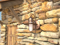 3d rustic light fixture