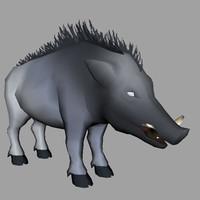 3d model wild boars