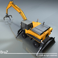 hydraulic excavators handler 3d model