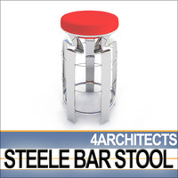 3d dynamic steele bar stool model