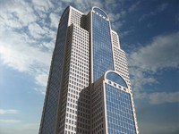 3d model comerica bank tower dallas