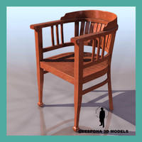 arm chair ultradetailed 3d model
