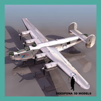 usaf heavy american bomber 3d model