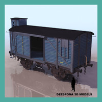 train wagon cargo c 3d model