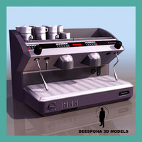 3d model of coffee machine cafe express