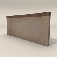 3dsmax cinder block wall