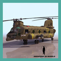 ch 47 chinook army 3d model