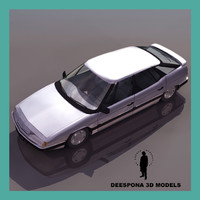 citroen xm french european 3d max