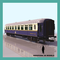 train coach passenger wagon 3d max