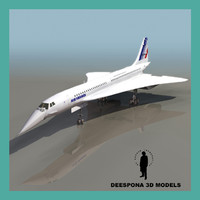 AIR FRANCE CONCORDE SUPERSONIC JET