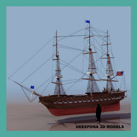 max constitutionn navy ship sailboat