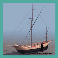 corsair sailboat ship 3d max