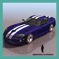 dodge vip american car 3d model