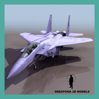 3d model f15 e strike eagle