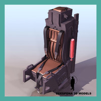 3d model f15 eagle ejectable seat