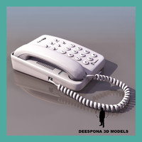 3d telefonica forma telephone 90s model