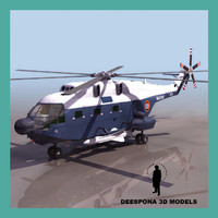 super frelon aerospatiale french 3d model