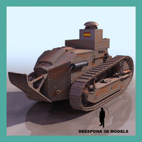 3d renault ft 17 spanish model