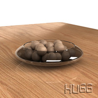 glass bowl spheres 3d max