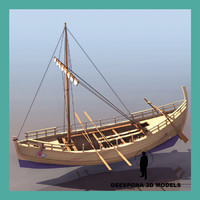 3d kyrenia ancient greek merchant ship model