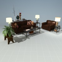 3ds max living room set