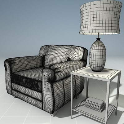 3ds max living room set for Living room 3ds max