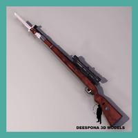 karabiner mauser 98k kar98 3d model