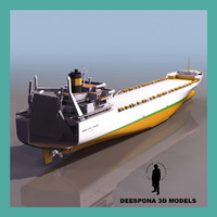 3ds max nedlloyd cargo ship vessel