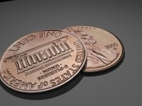 3d model penny coin